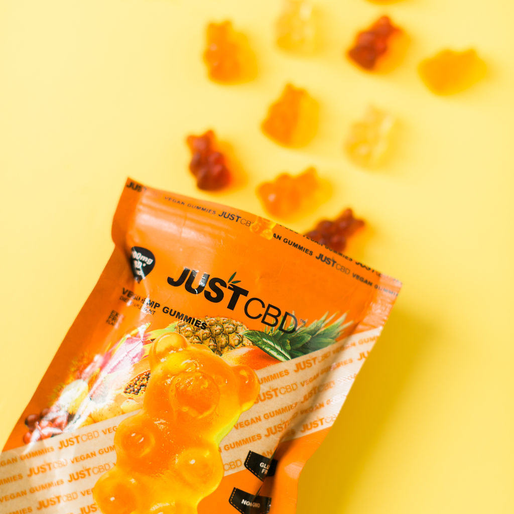 JustCBD Sells Strawberry and Champagne Vegan Gummies!